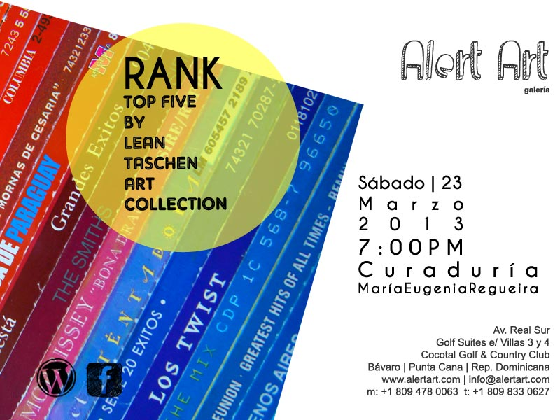 Rank by Lean Taschen Art Collection en Alert Art | galería