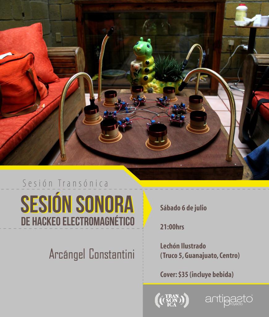 Sesión de Hackeo Sonoro/Arcángel Constantini/Transónia