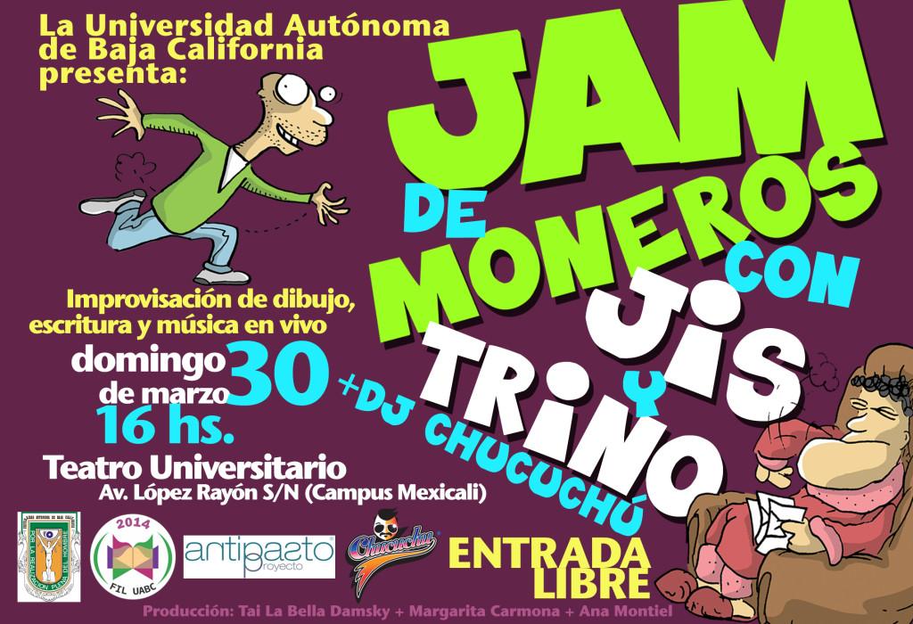 Jam de Moneros: Jis y Trino Musicaliza: Chucuchú Producción: Tai La Bella + Ana Montiel + Margarita Carmona