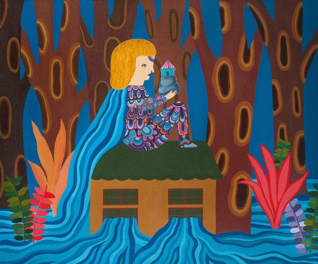 Carla Barth, Casa Afogada, 2012 (acrílica sobre tela, 60x70 cm) v