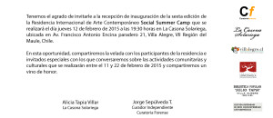 SOCIAL SUMMER CAMP 6  - invitacion recepcion
